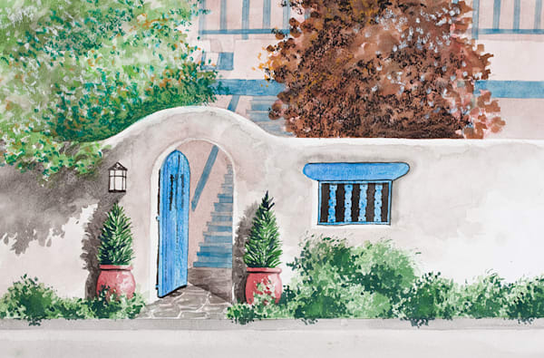 Blue Arched Gate
