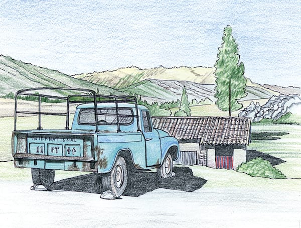 International Harvester Truck Near Cuzco, Peru Art | Fine Art New Mexico