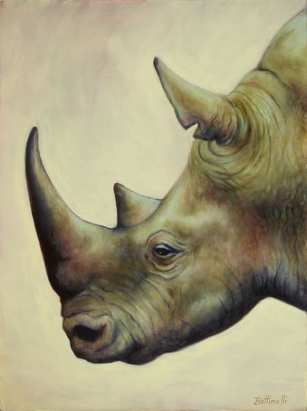 The Rhino - custom size print