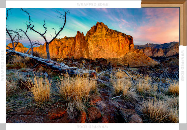 Rock Wall Sunrise (131039LNND8) Smith Rock State Park Photograph for Sale as Fine Art Canvas Print