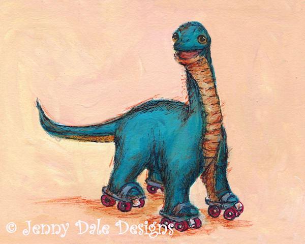 Brachiosaurus on Roller Skates