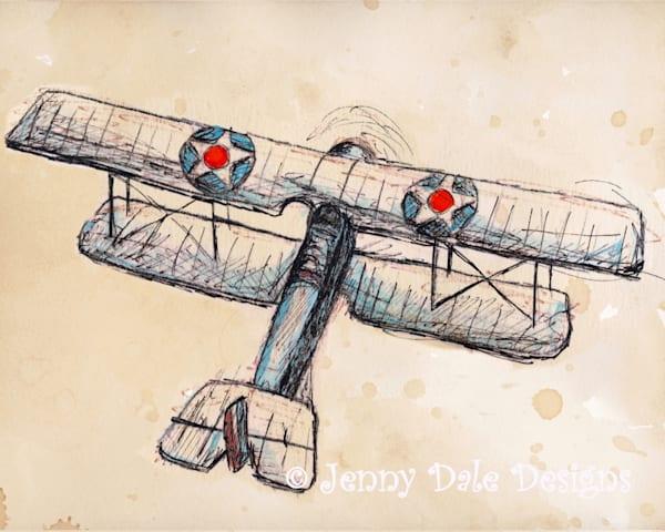 Vintage Airplane Version 2 Art | Jenny Dale Designs