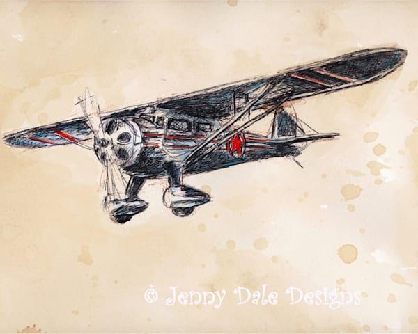 Vintage Airplane Version 1 Art | Jenny Dale Designs