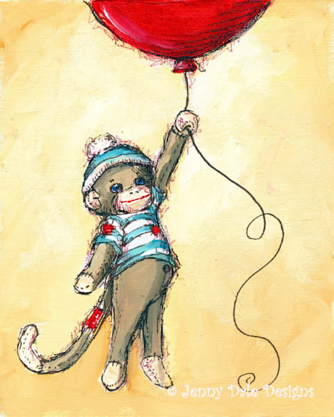 Sock Monkey's Balloon