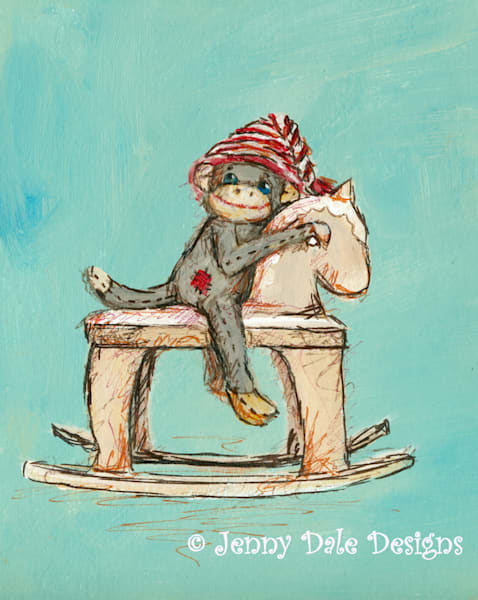 Sock Monkey's Rocking Horse