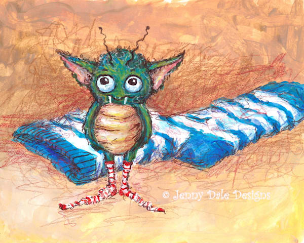 The Stinky Sock Monster Art | Jenny Dale Designs