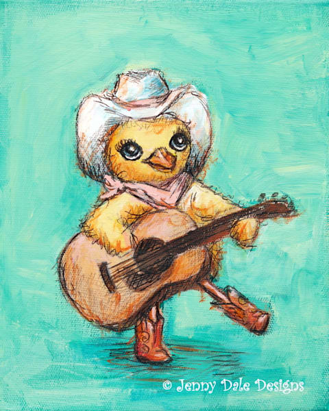 Chick With A Guitar Art | Jenny Dale Designs