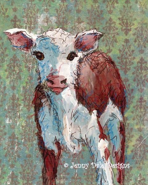 Baby Calf Art | Jenny Dale Designs