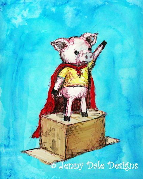 Arthur The Pig Art | Jenny Dale Designs