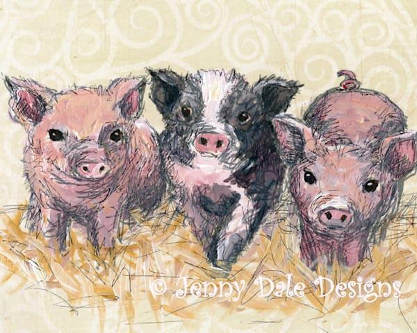 Three Piglets Art | Jenny Dale Designs
