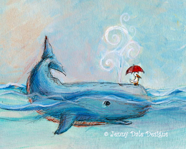 Whale And Pelican Art | Jenny Dale Designs
