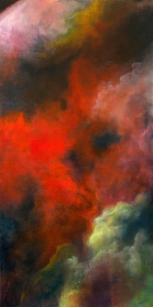 Red Cloud fine art oil painting by Bottinelli