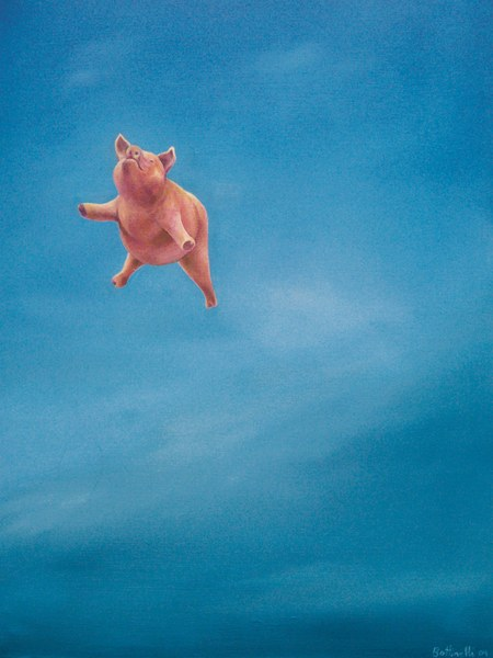 When Pigs Fall - custom size print