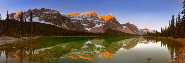 Bow Lake & Crowfoot Mtn. Banff National Park|Canadian Rockies|Rocky Mountains|