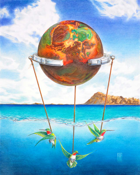 Tethered Sphere Art | Melissa A Benson Illustration