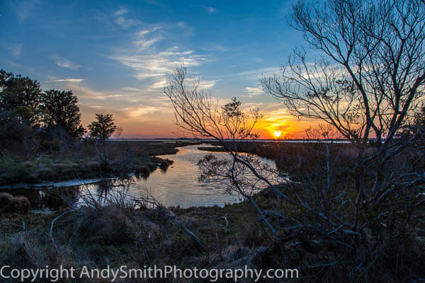 Sunset over the Marsh at Assateague, fine art photograph