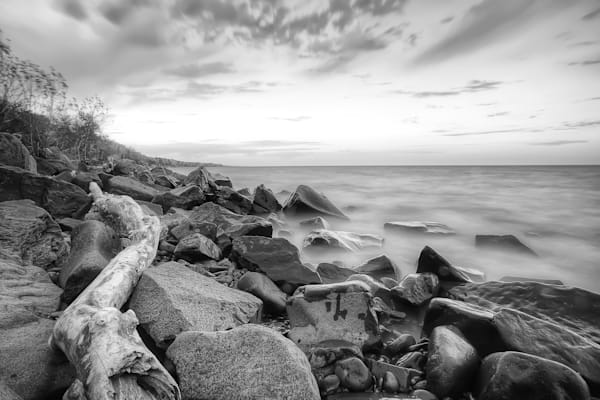 Beautiful fine art photography print of Lake Superior shoreline near Duluth, Minnesota.
