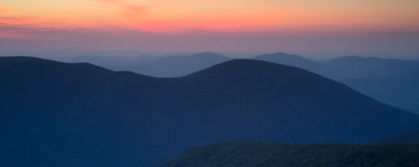 Smoky Mountain sunrise panoramic