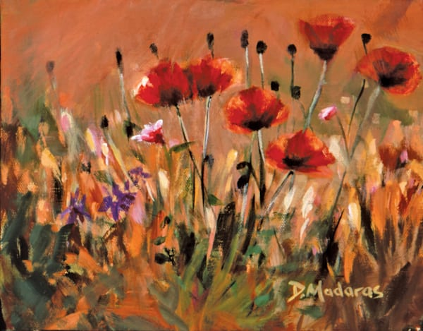 Poppies Flowers Mini Canvas