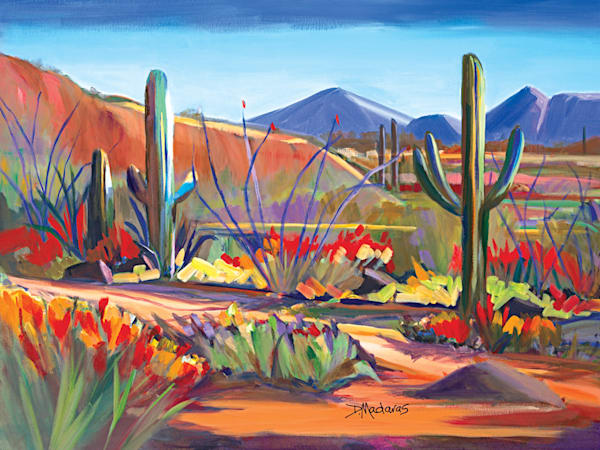 Tucson Desert Saguaros Mini Canvas
