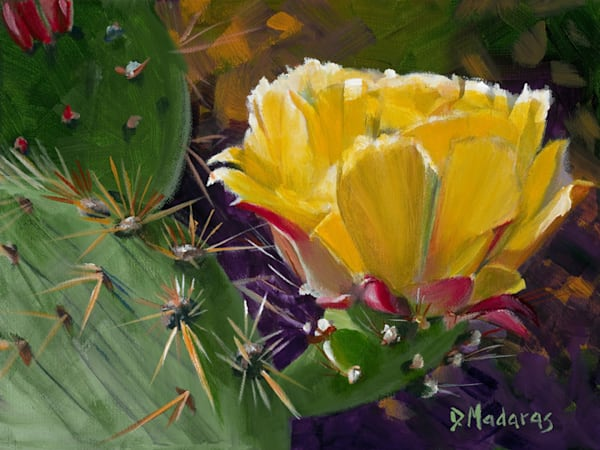 Prickly Pear Bloom Small Canvas