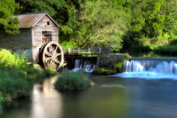 Photograph of Hyde Mill water wheel
