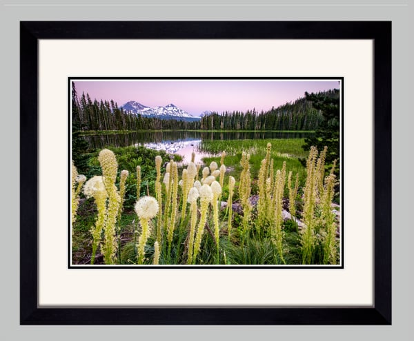 Scott Lake Sunset I (141086LNND8) Scott Lake Oregon Photograph for Sale as Framed Fine Art Paper Print