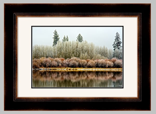 Ice Ornaments (141377LNND8) Deschutes River Fall Photograph for Sale as Framed Fine Art Paper Print
