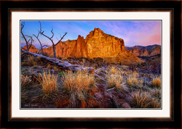 Rock Wall Sunrise (131039LNND8) Smith Rock State Park Photograph for Sale as Framed Fine Art Paper Print