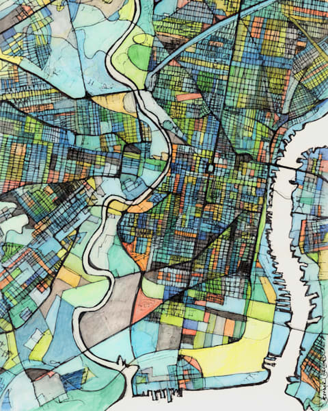 City Map For Sale Online- Abstract Art Print of Philadelphia PA. Abstract Office Art – Philly Neighborhood Map of PHILADELPHIA PA. Abstract Map Print | Art Prints | Wall Art | Gift Ideas | Travel | Modern Philly Art
