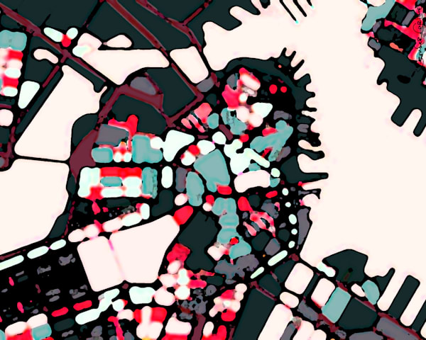 Abstract Art Prints – Digitally merged illustrations and paintings of Boston maps – Sold as Art Prints on Canvas, Paper, Metal & More