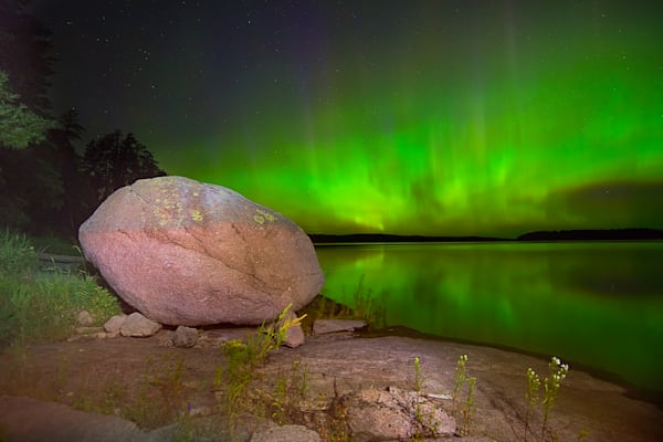 Granite Meets Aurora Photograph for Sale as Fine Art.