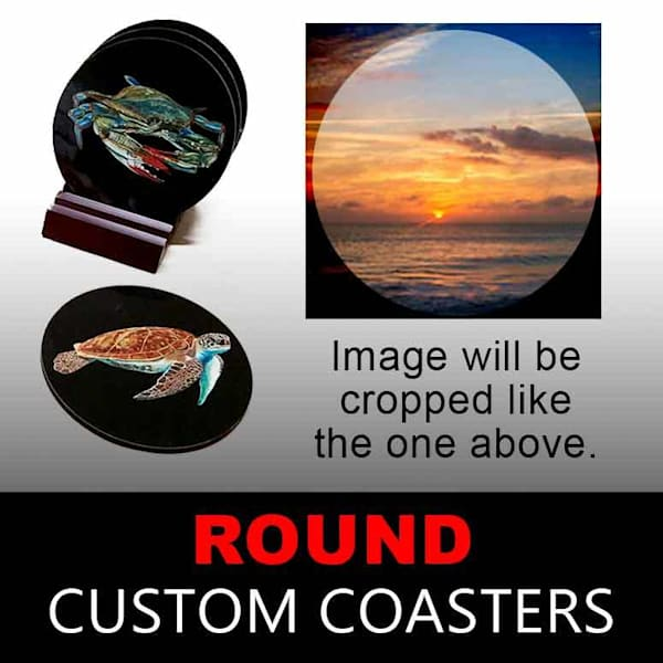 Custom Coasters   Round | Canvas and Metal Prints