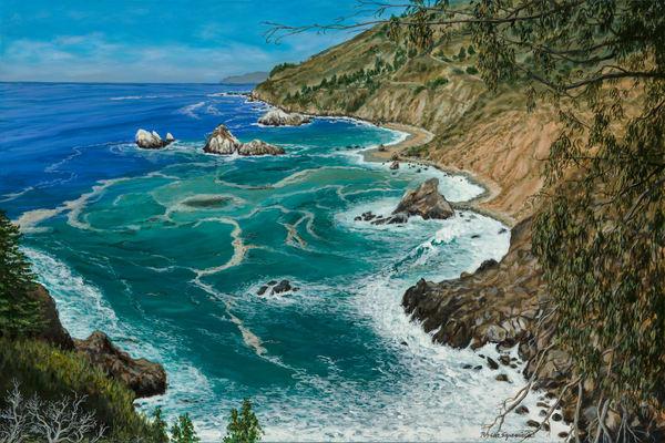 Looking North at Big Sur