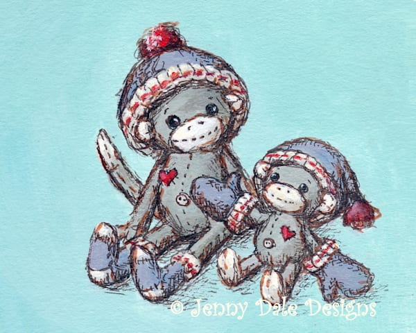 Sock Monkey's Mittens: Dressed in Love