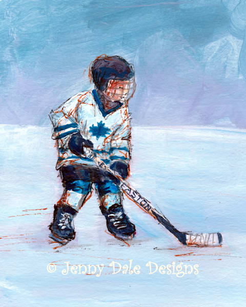 Child Playing Hockey: Toronto Maple Leafs