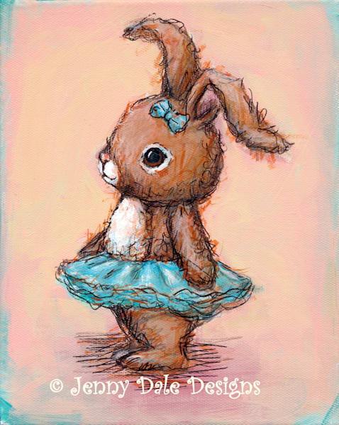 Bunny with Blue Tutu