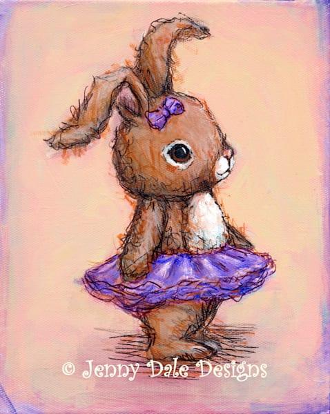 Bunny with Purple Tutu