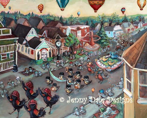 Okotoks Parade: On Elizabeth Street Art by jennydaledesigns