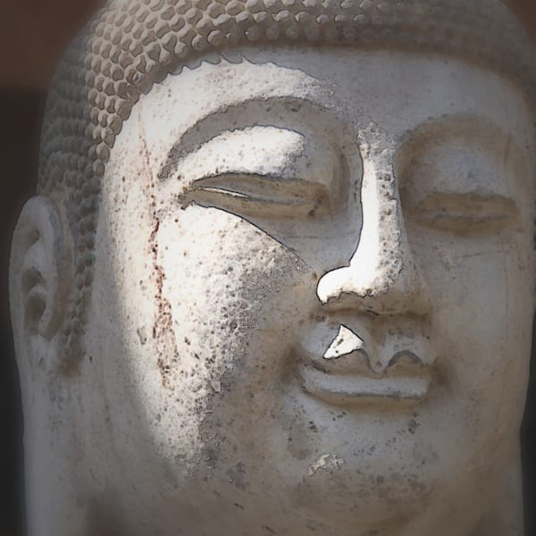 Buddha vignette face art photograph