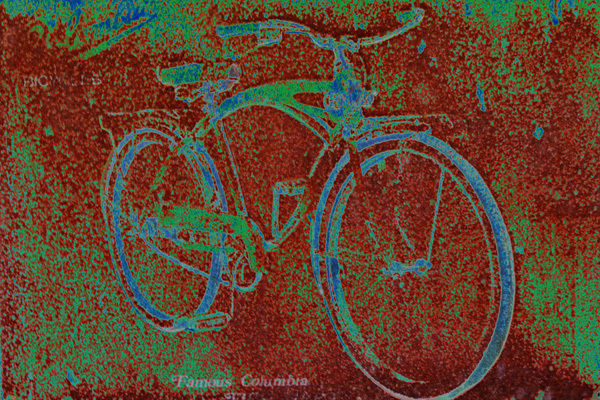 Columbia Bicycle with green art photograph