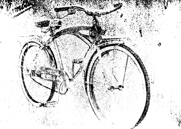 Black and White Columbia Bicycle Art Photograph