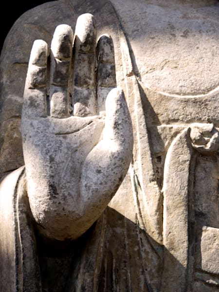 Raised Buddha Hand art photograph