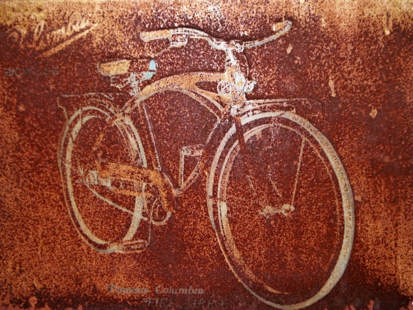 Rusty Columbia Bicycle Art Photograph