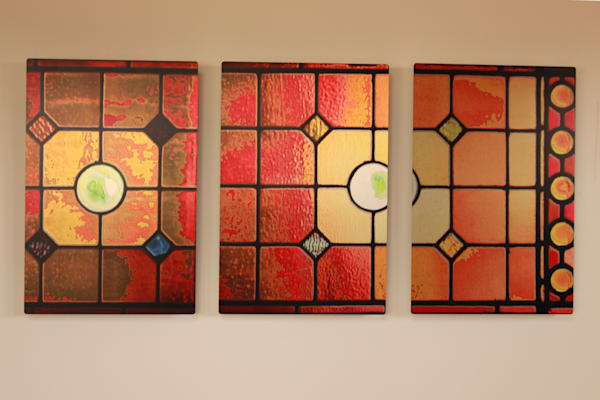Church Window Triptych Art Photograph