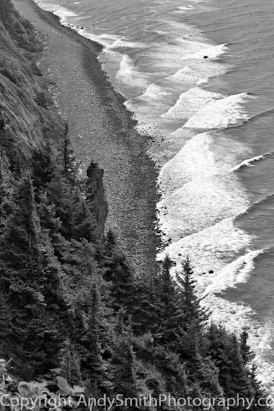 Looking Down on the Oregon Coast black and white fine art photograph