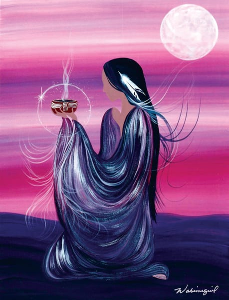 "Grandmother Moon Teachings - October Moon - ""She Who Works With the Truth"" by Wabimeguil"