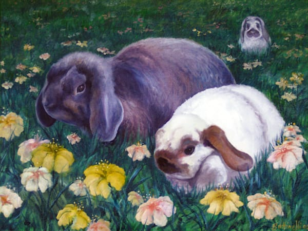 Bunnies - custom size print