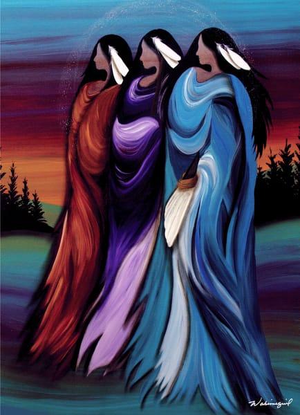 Three Sisters by Cree artist Wabimeguil