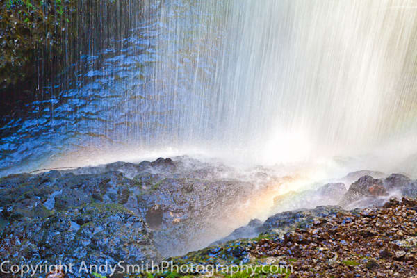 Rainbows at the Bottom of North Falls  fine art photograph